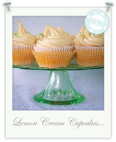 Gluten Free Lemon Cream Cupcakes Filled with Lemon Curd & Topped with Vanilla Butter Cream. Gluten Free Cupcake Recipe, Gluten Free Bakery, Gluten Free Sweets, Cupcake Recipes, Cupcake Cakes, Mini Cupcakes, Lemon Cupcakes, Egg Free Recipes, Gf Recipes
