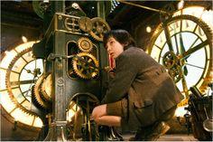 Hugo Cabret : photo Asa Butterfield, Martin Scorsese