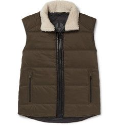 Belstaff - Fyfield Shearling-Trimmed Quilted Ripstop Gilet