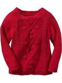 Cable-Knit Sweaters for Baby