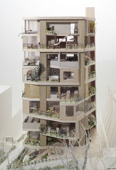 Architecture Student in London — lessadjectivesmoreverbs: On Design -. Architecture Concept Drawings, Architecture Student, Facade Architecture, Layered Architecture, Arch Model, Apartment Design, Urban Design, Design Model, House Plans