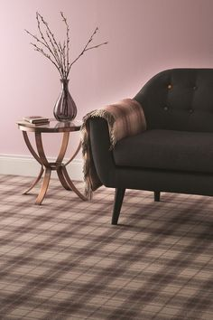 Ulster Carpets Hamilton Plaid in Tea Rose