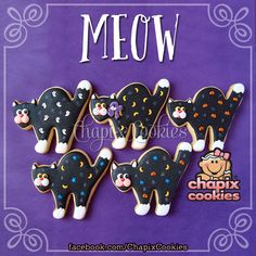✿ Meow ✿ Miau ✿ * Throw Back Thursday. Cookies decorated in 2010. * Jueves del…