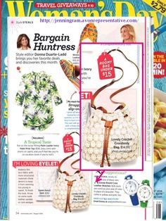 Woman's Day featured our Lovely Crochet Crossbody in their style steals section!