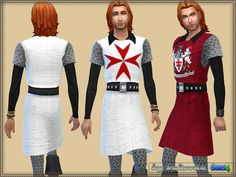 Sims 4 CC's - The Best: Knight Costume by Bukovka