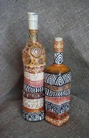 Resultado de imagem para garrafas natalinas decoradas