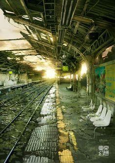 Ruine de la civilisation... Les survivants ont-ils quitté les grandes villes ? Ont-ils abandonné la Terre ? | Yoyogi Station by Tokyo Genso