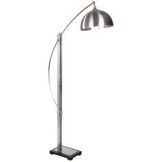 Uttermost Malcolm Brushed Nickel Floor Lamp 28634-1