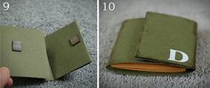 This is a folding card wallet. Can put in photos or notes for dad or grandpa. Has a tutorial.
