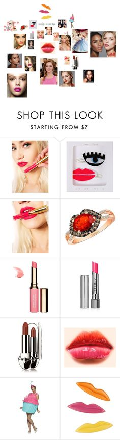 """""""So Sweet: Candy-Colored Lips"""" by annali1983 ❤ liked on Polyvore featuring beauty, Prabal Gurung, LASplash, Meri Meri, Mary Greenwell, LE VIAN, Clarins, By Terry, Guerlain and Tara Lynn"""