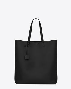 SAINT LAURENT SHOPPING SAINT LAURENT TOTE BAG IN BLACK LEATHER | YSL.COM - $995