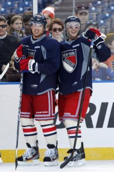 Brad Richards and Ryan Callahan, New York Rangers Rangers Hockey, Hockey Teams, Hockey Players, New York Rangers, Ryan Callahan, Brad Richards, Hockey Pictures, Hockey Quotes, Nhl News