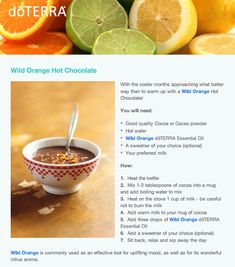 doTERRA delicious Wild Orange Hot Chocolate! Learn more at: www.lisawilsonwellness.com