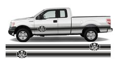 bus pickup truck F150 4x4  side stripes vinyl decals 2x250cm Pickup Trucks, Vinyl Decals, 4x4, Stripes, Vehicles, Cars, Vehicle, Line Art