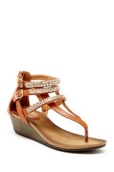 Dahlina Wedge Sandal by Bucco on @HauteLook/Dorothy Johnson