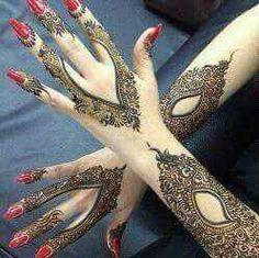 stylish beautiful full hand mehndi designs 13