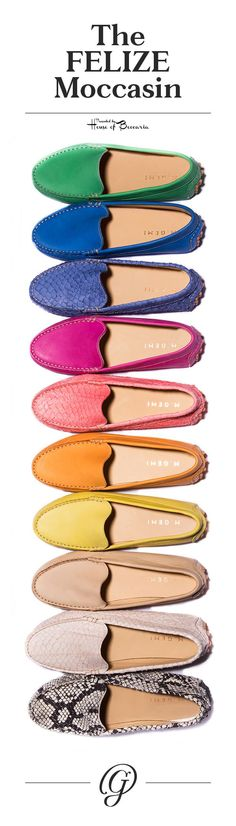 ~The M. Gemi Felize Moccasin is handcrafted stitch-by-stitch in a tiny woman-owned factory in Italy | House of Beccaria