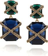 Gold, green and navy @Oscardelarenta earings