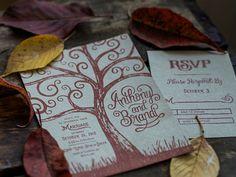 Fall Wedding Stamp