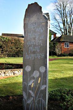 Other Garden Carvings Eco Garden, Garden Mum, Meadow Garden, Memorial Garden Stones, Garden Drawing, Cemetery Art, Stone Sculpture, Farm Gardens, Stone Carving