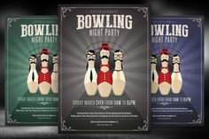 Bowling Night Flyer Template by Briell Design on @creativework247