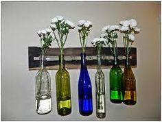 Image result for wine bottle wall art