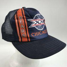 c056e3a3be1 Vintage Chicago Bears NFL Super Bowl 1986 Cap Trucker Mesh Snapback New Era  USA  NewEra