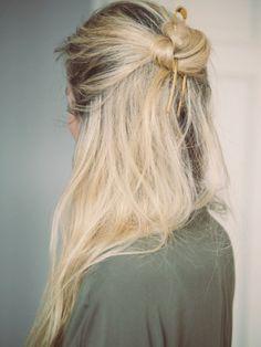 simple undone hair