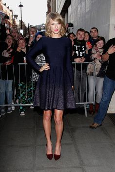 In London. See Taylor Swift's full fashion evolution, from sequins in 2007 to her many crop tops today.