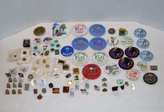 Large Lot of Buttons and Pins including 4-H / Dick Tracy/Lowenbrau