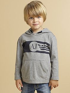 Armani Junior Toddler's & Little Boy's Logo Hoodie