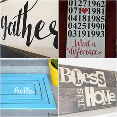 How great are all of these Cricut Projects for your home??