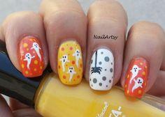 Ghostly Fun - Halloween Nail Art - Gallery - Nail Artsy