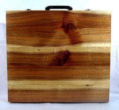 Acacia (Australian Blackwood) apron case.  MasonicWoodworker.com Masonic Gifts, Acacia, Solid Wood, Apron, Shapes, Handmade, Hand Made, Aprons, Handarbeit