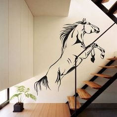 Stunning horse wall decal.