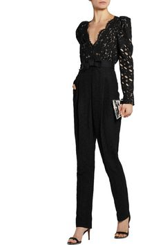 Black guipure lace Concealed zip fastening along back Fabric1: 46% cotton, 26% viscose, 18% polyamide, 10% polyester; fabric2: 85% cotton, 15% polyamide; lining: 100% silk Dry clean