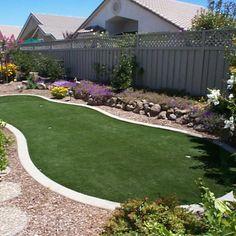 Artificial Grass Backyard Del Mar (Pe) Putting Green Linear Foot (15 Sf)   $2.87 Sf