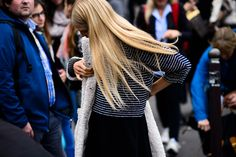 Shearling is a major trend for Fall 2015. See how street style stars are rocking the look on wmag.com.