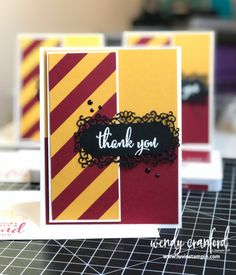 Harry Potter Party & Thank You Cards - Luvin Stampin Carte Harry Potter, Harry Potter Spells List, Harry Potter Sign, Harry Potter Cards, Harry Potter Room, Scrapbooking Harry Potter, Harry Potter Balloons, Harry Potter Birthday Cards, Anniversaire Harry Potter
