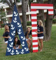 Delta Gamma at Texas A & M #DeltaGamma #DG #BidDay #America #letters #TexasAM