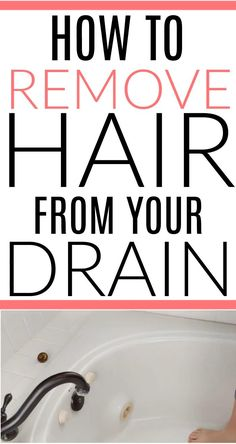 Slow drain clogged with hair driving you crazy? See how to get hair out of drain like a pro. It only takes minutes to clean. Remove Hair From Drain, How To Remove, How To Get, House Cleaning Tips, Cleaning Hacks, Slow Drain, Cleaners Homemade, Hair Removal, Clean House