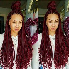 Red Goddess Braids Ideas pin on braids up do Red Goddess Braids. Here is Red Goddess Braids Ideas for you. Red Goddess Braids 51 goddess braids hairstyles for black women braided. Box Braids Hairstyles, Braids Wig, My Hairstyle, Twist Braids, Girl Hairstyles, Red Box Braids, Twists, Ghana Braids, Protective Hairstyles