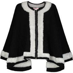 """""""Alice V"""" Black & White Woolen Cape - TK Maxx"""