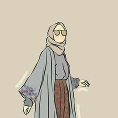 slamic anime ve tesett r People Illustration, Illustrations, Illustration Art, Tmblr Girl, Hijab Drawing, Islamic Cartoon, Anime Muslim, Hijab Cartoon, Art Antique
