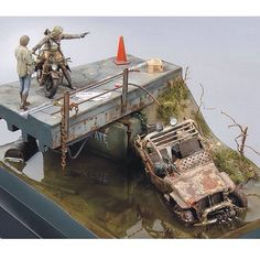 On the bridge PART1 scale: 1:35  By: Sergey Zykov From: diorama.ru  #scalemodel #plastimodelismo #miniatura #miniature #miniatur #hobby #diorama #humvee #scalemodelkit #plastickits #usinadoskits #udk #maqueta #maquette #modelismo #modelism