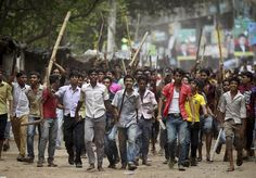 Protesters who want Rana dead continue to march through the streets of Bangladesh.