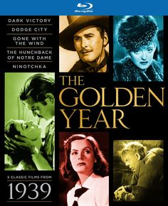 The Golden Year - 5 Classic Films from 1939: Dark Victory, Dodge City, Gone with the Wind, The Hunchback of Notre Dame, Ninotchka - Blu-Ray (Warner Home Video Region A) Release Date: June 9, 2015 (Amazon U.S.) Note: All of these titles will be released separately as well.