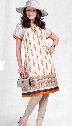 Printed Kurti, Printed Cotton, Cotton Tunic Tops, Latest Kurti, Punjabi Suits, Office Wear, Daily Wear, Indian Dresses, Short Sleeve Dresses