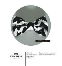 Czarno- biała muszka specjalnie dla zwierzaka i dzieci :) hand made by Pan Dzik