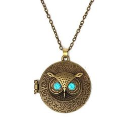 Blue Crystal Eye Owl Necklace ($2.98) ❤ liked on Polyvore featuring jewelry, necklaces, white, vintage owl necklace, vintage necklace, owl necklace, vintage pendant necklace and vintage crystal necklace